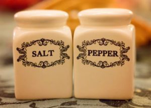 Salt and pepper ceramic containers